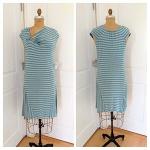 Athleta Pahala Knit Dress Aqua/Grey Size Large